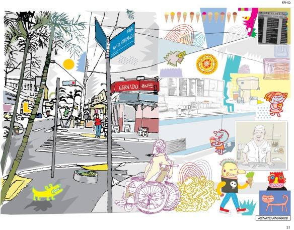 Ilustração de Renato Andrade, na primeira edição da RPHQ, de 2011