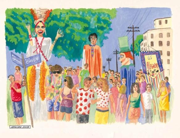 Ilustração de Ubirajara Júnior, na segunda edição da RPHQ, de 2012