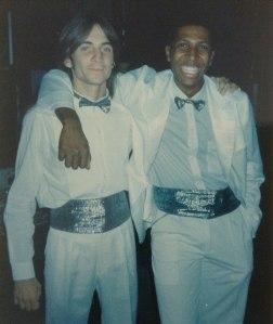 Duda Lazarini e Mauro Zacharias, em 1991, na Fascinação